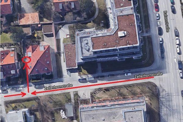 Karte Zellerhornstrasse
